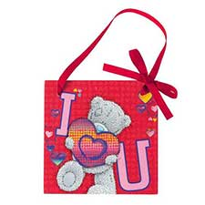 I Love You Me to You Bear Wall Plaque