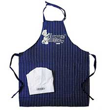 Danger Dad Cooking Me to You Bear Apron and Chefs Hat