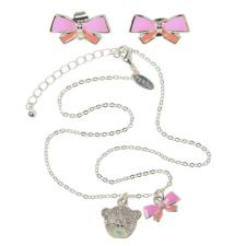 Me to You Bear Pink Bow Earring and Necklace Gift Set