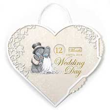 Me to You Bear Wedding Countdown Plaque