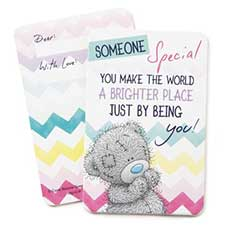 Someone Special Me to You Bear Message Card