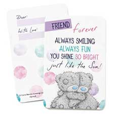 Friends Forever Me to You Bear Message Card