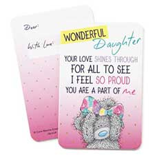 Wonderful Daughter Me to You Bear Message Card