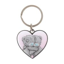 Cuddling Bears Me to You Bear Heart Keyring