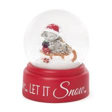 Let It Snow Christmas Me to You Bear Snow Globe