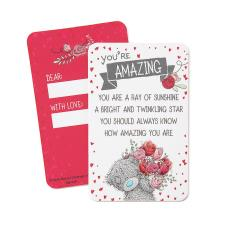 You're Amazing Me to You Bear Message Card