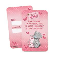 Thank You Mummy Me to You Bear Keepsake Message Card