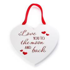 Love You To The Moon & Back Me to You Bear Heart Plaque
