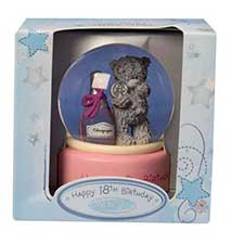 Me to You Bear 18th Birthday 65mm Snow Globe