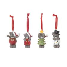 Set of 4 Resin Christmas Me to You Bear Tree Decorations