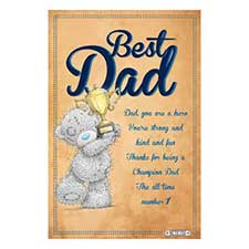 Best Dad Me to You Bear Certificate