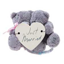 "3"" Just Married Me to You Bear with Window Sucker"