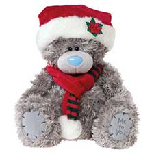 "12"" Christmas Me to You Bear in Santa Hat and Scarf"