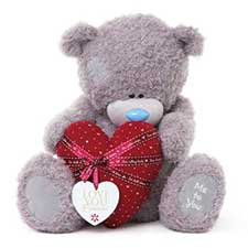 "24"" I Love You Padded Heart with Tag Me to You Bear"