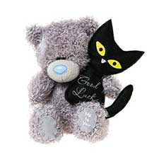 "4"" Good Luck Black Cat Me to You Bear"