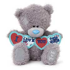 "10"" I Love You This Much Hearts Me to You Bear"