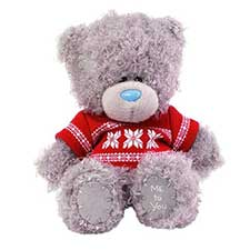 "5"" Wearing Red Snowflake T-Shirt Me to You Bear"
