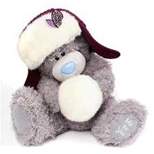 "12"" Hat & Snowball Me to You Bear"