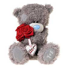 "12"" Love You Roses Me to You Bear"