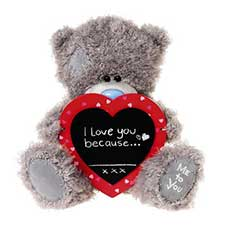"10"" Heart Chalk Board Me to You Bear"