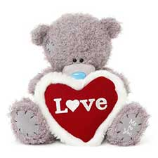 "12"" Padded Love Heart Me to You Bear"