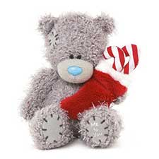 "4"" Me to You Bear Holding Stocking"