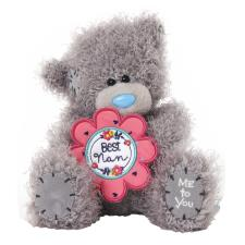 "7"" Best Nan Holding Flower Me to You Bear"