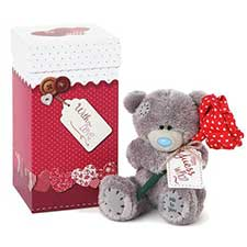 "4"" Boxed Me to You Bear Holding Rose"