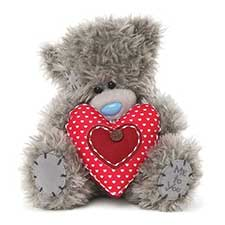 "7"" Holding Padded Heart Me to You Bear"