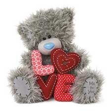 "10"" Padded Love Letters Me to You Bears"