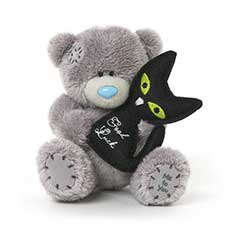 "4"" Good Luck Soft Black Cat Me to You Bear"