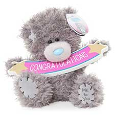 "5"" Congratulations Banner Me to You Bear"
