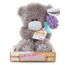 "7"" Auntie Me to You Bear With Flowers"