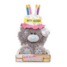 "7"" Birthday Cake Hat Me to You Bear"