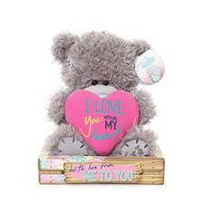 "7"" Love You Padded Heart Me to You Bear"