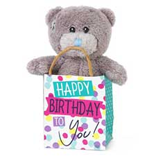 "3"" Me to You Bear In Happy Birthday Gift Bag"