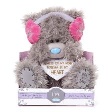 "9"" Love Heart With Ear Muffs Me to You Bear"