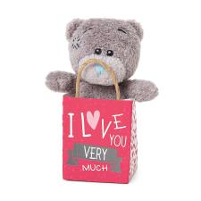 "3"" I Love You Me to You Bear In Gift Bag"