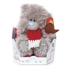 "9"" Scarf & Robin Me to You Bear"