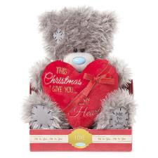 "9"" Christmas Padded Heart Me to You Bear"