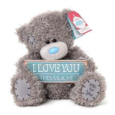 "8"" I Love You This Much Plaque Me to You Bear"
