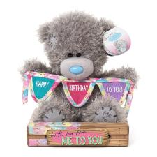 "7"" Holding Bunting Happy Birthday Me to You Bear"