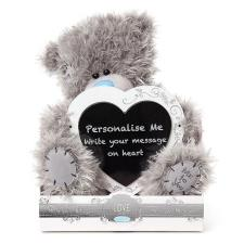 "9"" Personalise Your Own Heart Plaque Me To You Bear"