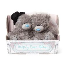 "2 x 4"" Bride & Groom in Carriage Me to You Wedding Bears"