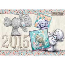 2015 Me to You Bear A4 Week to View Family Organiser