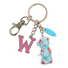 W Me to You Bear Enamel Alphabet Keyring Bag Charm