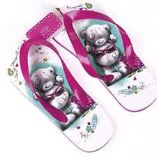 Sketchbook Me to You Bear Flip Flops Size 3-4