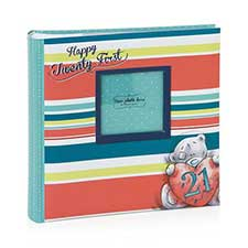 21st Birthday Me to You Bear Photo Album with Photo Front