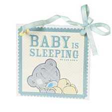 Tiny Tatty Teddy Baby is Sleeping Wall Plaque