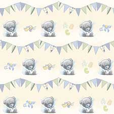 Baby Boy Me to You Bear Gift Wrap & Tags Set